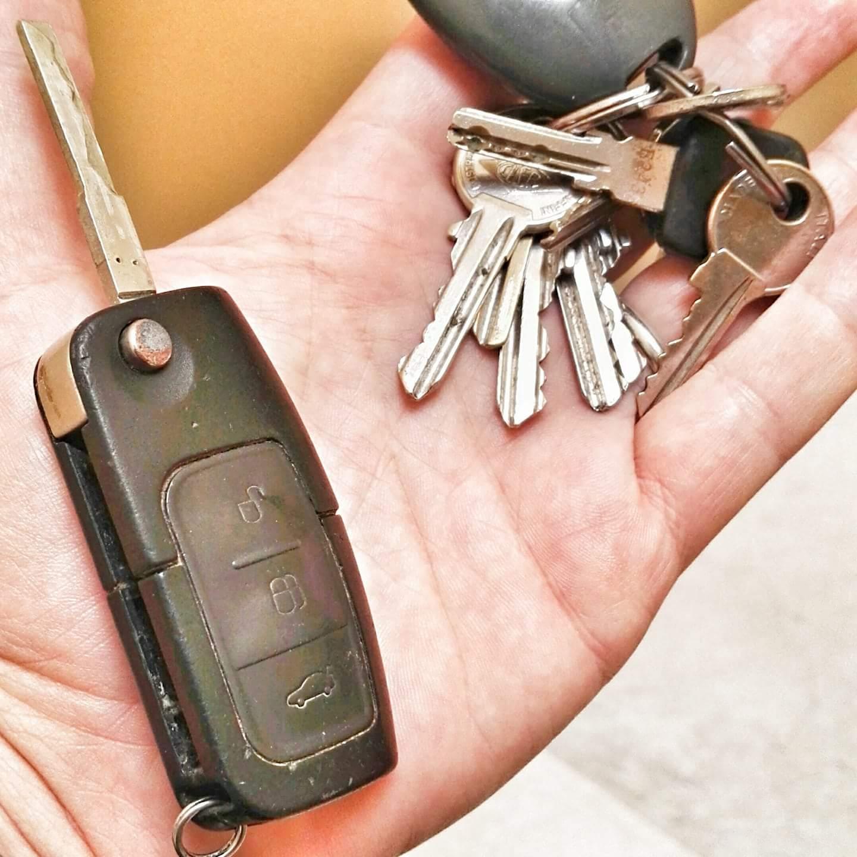 Chiave della macchina - Mazzo di chiavi